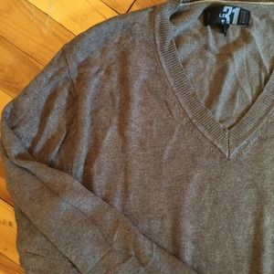 Simon's le 31 Light Brown Bamboo Vneck Sweater